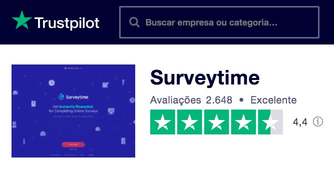 Trustpilot Surveytime